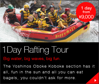 One day rafting tour