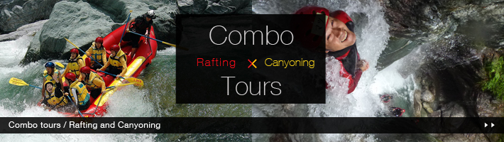 Combo Tour Rafting and Canyoning